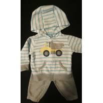 CONJUNTO calça e casaco de moletom carrinho Carter`s - 3 a 6 meses - Carter`s