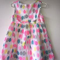 Vestido de bolinhas coloridas Carter´s - 12 a 18 meses - Carter`s