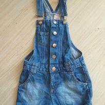 Jardineira jeans - 6 anos - Palomino