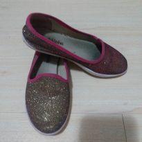 Alpargata glitter dourado e rosa - 28 - Molekinha