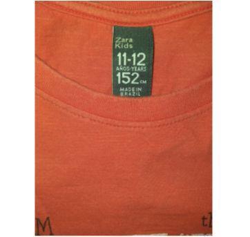 Blusa Zara manga comprida estampada - 12 anos - Zara