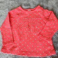 Blusa manga comprida Carter`s - 9 meses - Carter`s