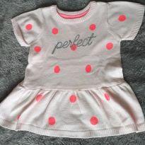 Vestido rosa com bolinhas Carter`s - 6 meses - Carter`s