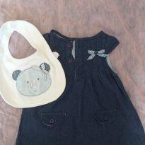 Vestido Jeans Baby Classic - 3 meses - Baby Classic