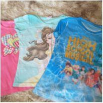 Lote de blusas - 6 anos - Disney e Hanna Anderson
