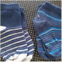 Lote de meias listradas - 1 ano - Sem marca