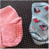 Lote de meias antiderrapante - 1 ano - Pimpolho