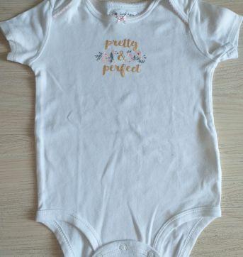 Body Carter`s branco manga curta - 18 meses - Carter`s