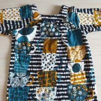Vestido Fábula estampado xícaras - 2 anos - Fábula