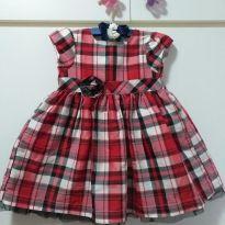 Vestido de festa xadrez Carter`s - 9 meses - Carter`s
