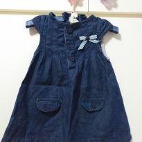 Vestido Jeans Baby Classic - 3 meses - Baby Classic