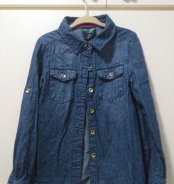 Camisa Jeans manga longa OshKosh - 5 anos - OshKosh