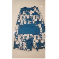 Macacão curto azul animais BB Básico - 12 a 18 meses - BB Básico