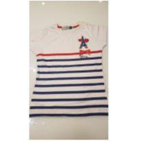 Blusa Paris branca vermelha e azul - 6 anos - Marca não registrada