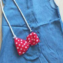 Vestido azul com acessório Minnie - 2 anos - Feito à mão e Sem marca