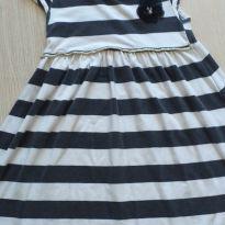 Vestido listrado preto e branco Milon 8 anos - 8 anos - Milon