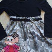 Vestido preto e cinza Turma da Mônica 8 anos - 8 anos - Brandili