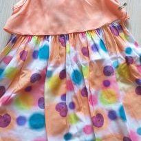 Vestido laranja colorido Alphabeto 3 anos - 3 anos - Alphabeto e Alphabeto (sem etiqueta(