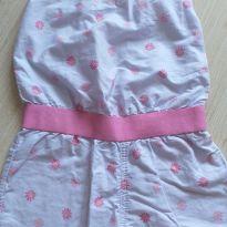 Macacão flores rosa e lilás Alphabeto 3 anos - 3 anos - Alphabeto