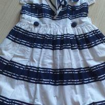 Vestido azul e branco 2 anos