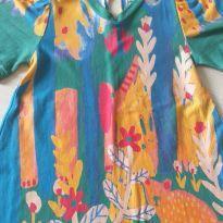 Vestido colorido verde e azul Fábula 1 ano - 1 ano - Fábula
