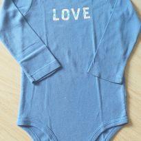 Body manga comprida azul Love Carter`s 2 anos - 2 anos - Carter`s