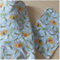 Jogo de lençol de berço 2 peças azul borboletas -  - Sem marca