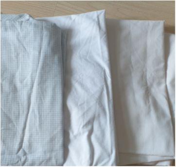Lote de lençol de elástico para berço azul e branco - Sem faixa etaria - Sem marca