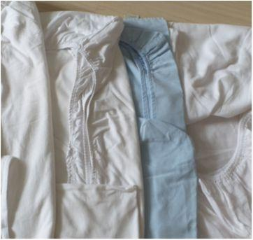 Lote de lençol de berço com elástico - Sem faixa etaria - Sem marca