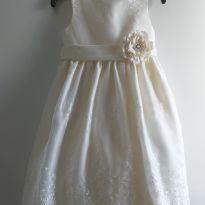 Vestido Off White American Princess 6 anos - 6 anos - American Princess
