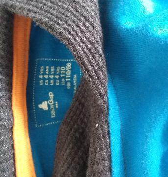 Blusa manga comprida 4 anos azul urso polar - 4 anos - Baby Gap e GAP