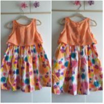 Vestido laranja colorido 3 anos - 3 anos - Alphabeto