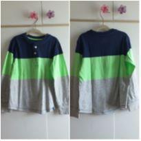Blusa manga comprida azul e verde 5 anos - 5 anos - Baby Gap e GAP