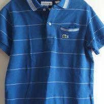 Camisa polo Lacoste azul 6 anos - 6 anos - Lacoste