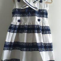 Vestido azul e branco 2 anos - 2 anos - Marca não registrada
