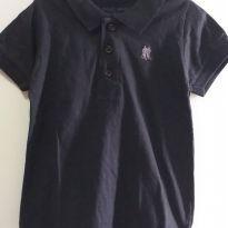 Camisa Polo preta 4 anos - 4 anos - Polo Wear