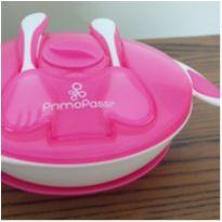 Kit de alimentação prato e talher PrimoPassi rosa -  - Primo Passi