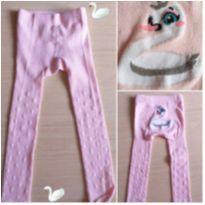 Meia calça legging 1 a 3 anos rosa cisne - 24 a 36 meses - Puket