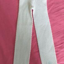 Meia calça legging branca 1 a 2 anos - 12 a 18 meses - sem etiqueta