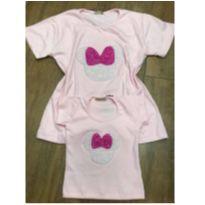 Kit blusas mãe e filha - Minnie rosa - 3 anos - Não informada