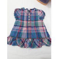 0117- vestido xadrez ralph Lauren - 9 meses - Ralph Lauren