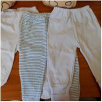 0224- kit com 3 calças - 3 meses - Sem marca
