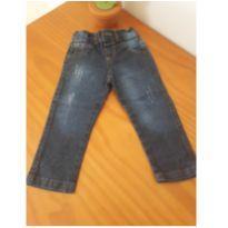 0227- calça jeans escura - 12 a 18 meses - Sem marca