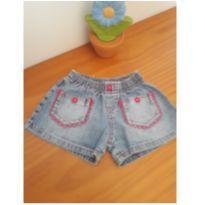 0243- short jeans curto - 3 anos - Sem marca