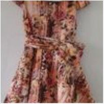 0463- vestido infantil floral - 4 anos - Não informada