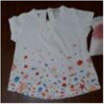 0022- blusa branca - 9 a 12 meses - Não informada