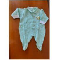 0681- body verde claro - 3 meses - Sem marca