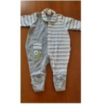 0680- body cinza estampado - 3 meses - Petutinha