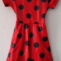 0711- vestido Lady bug - 5 anos - Sem marca