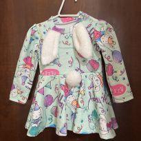 Vestido com body coelhinha, mon sucré - 6 a 9 meses - Mon Sucré e Mon Sucré